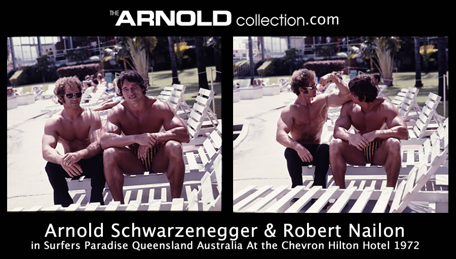 Arnold Schwarzenegger and Robert Nailon